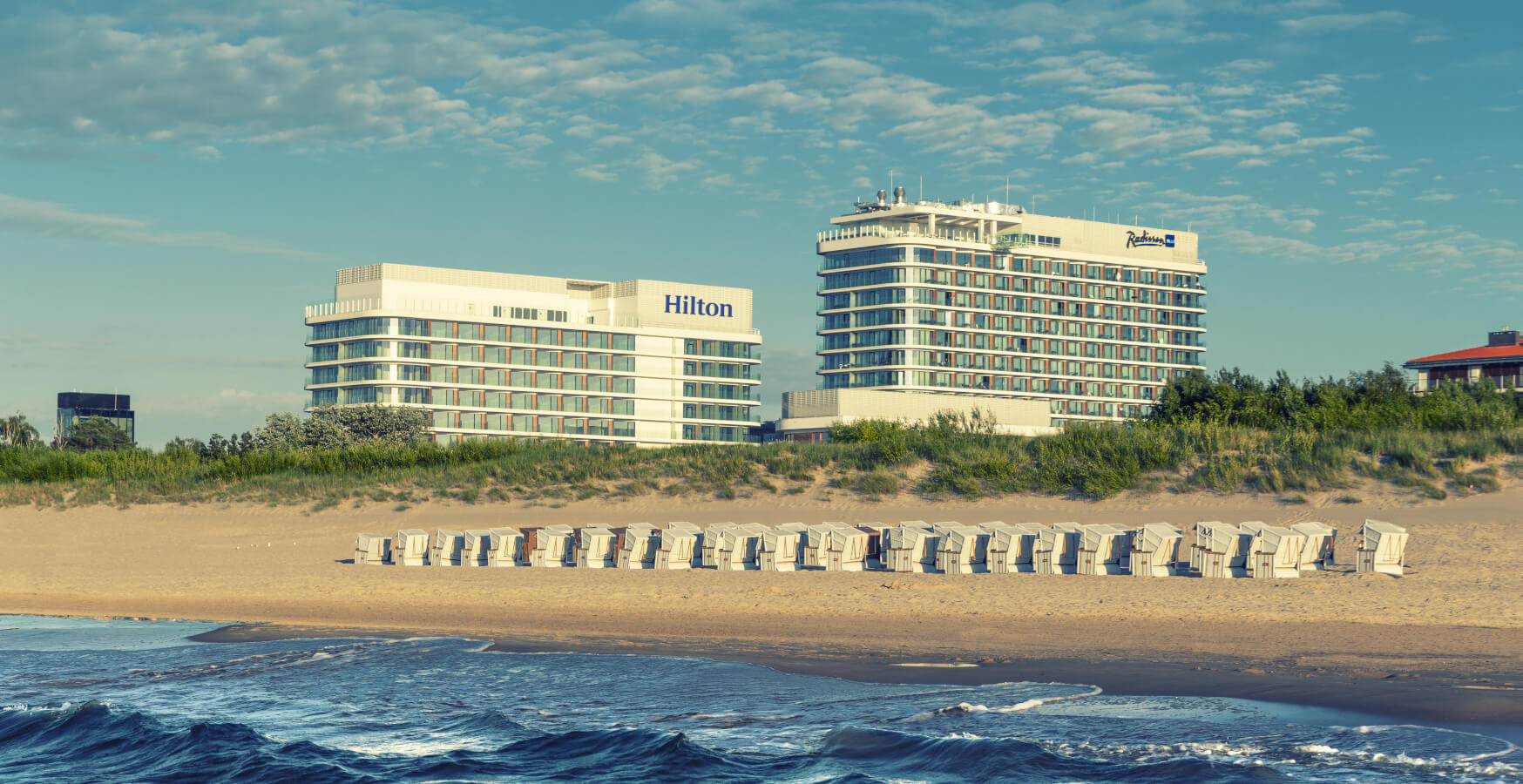 HILTON SWINOUJSCIE RESORT-and-SPA-Baltic Park Molo-and-Fort by Zdrojowa-z morza-from the sea-1